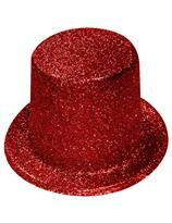 Glitter Red Top Hat