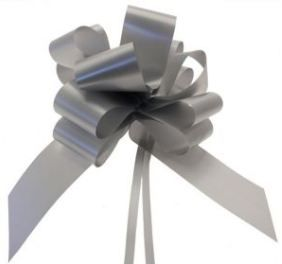 "Silver 2"" PullBows"