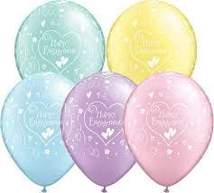 "11"" Printed Happy Engagement Latex Balloons"