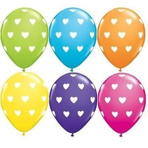 "11"" Printed Hearts a Round Latex Balloons"