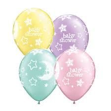 "11"" Printed Latex Balloons -Baby Shower Pastel"