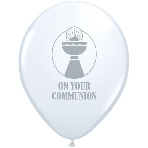 "11"" Printed On Your Communion Latex Balloons"