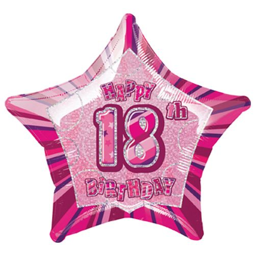 "18th Birthday Pink 18"" Foil"