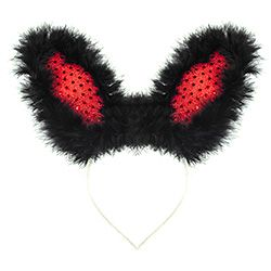 Black & Red Bunny Ears
