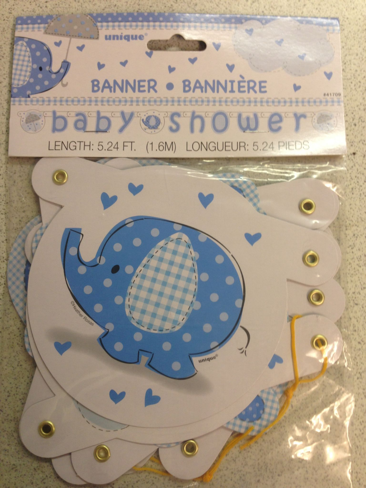Blue Baby Shower Letter Banner