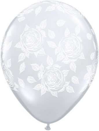 Elegant Rose a Round Diamond Clear 11""