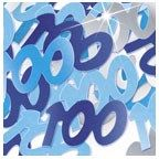 Glitz Blue 100th Table Confetti