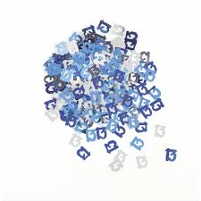 Glitz Blue 13th Table Confetti