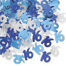 Glitz Blue 16th Table Confetti