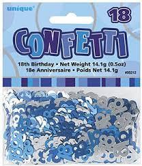 Glitz Blue 18th Table Confetti