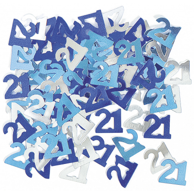 Glitz Blue 21st Table Confetti