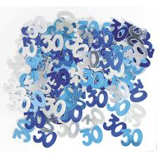 Glitz Blue 30th Table Confetti