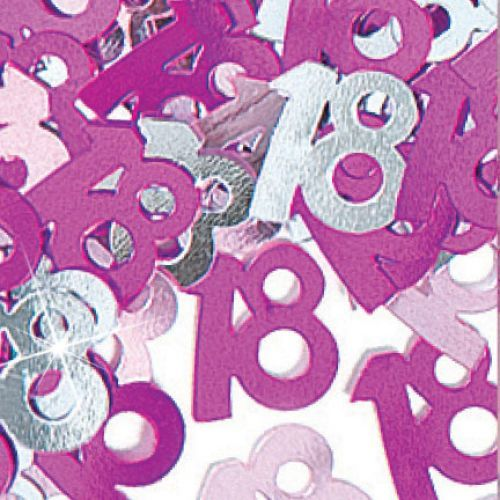 Glitz Pink 18th Table Confetti