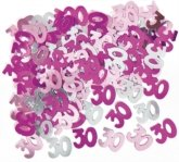 Glitz Pink 30th Table Confetti