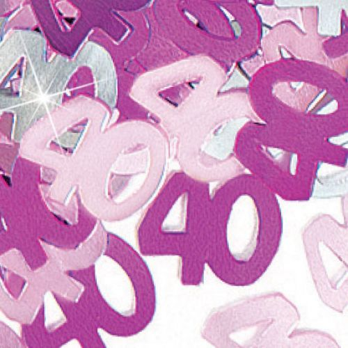 Glitz Pink 40th Table Confetti