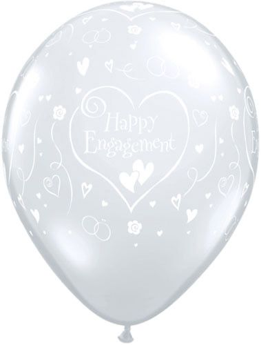 Happy Engagement Diamond Clear 11""