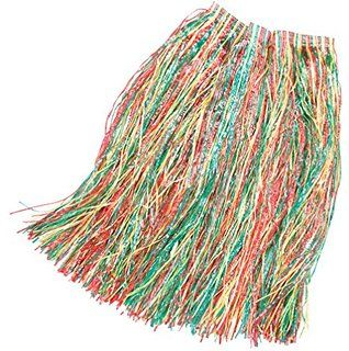 Hawaiin Multi coloured Grass Skirt