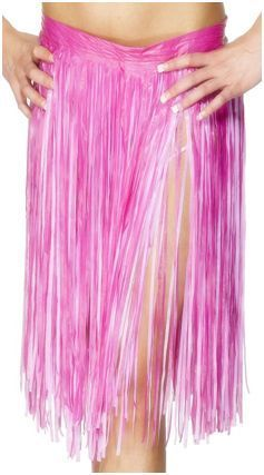 Hawaiin Pink Hula Skirt