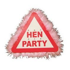 Hen Party Pink Flashing Brooch