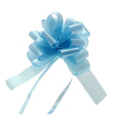 "Light Blue 2"" Pull Bow"