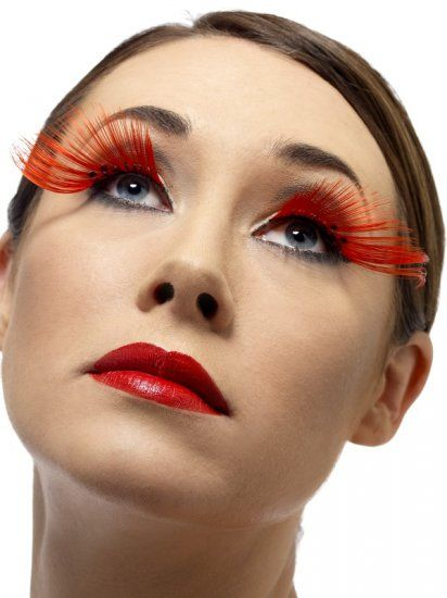 Long Red Lashes