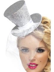 Mini Topper Hat Silver