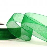 Organza Ribbon 25mm Apple Green