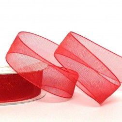 Organza Ribbon 25mm Red