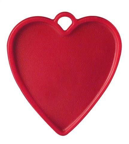 Red Plastic Balloon Heart Weights