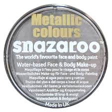 Snazaroo Metallic Silver Face Paint 18ml