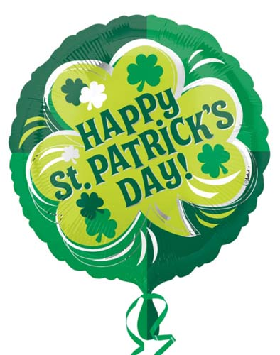 "St Patrick's Day 18"" Foil Balloon - Shamrock"