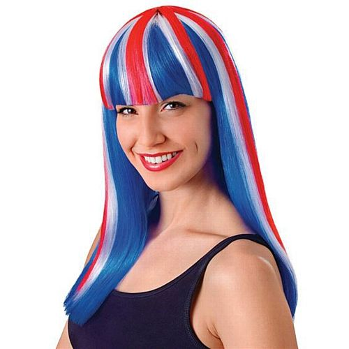 Union Jack Ladies Long Wig